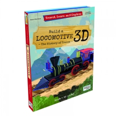 Sassi Travel Learn and Explore Book and 3D Model (Jupiter Locomotive)