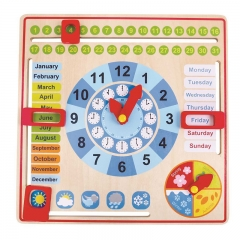 Tooky Toy My Wooden Calendar (With Ticking Clock)