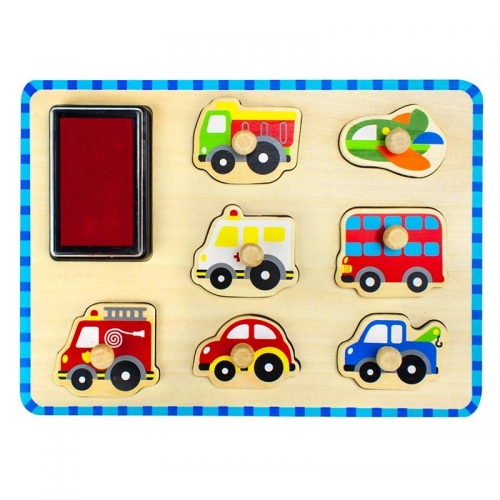 Tooky Toy Stamp Peg Puzzle (Vehicles)