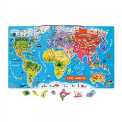 Janod Magnetic World Map Puzzle (Wood)