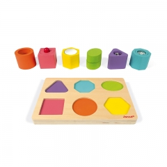 Janod Shapes and Sounds 6 Block Puzzle