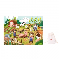 Tooky Toy Wooden Jigsaw Puzzle 48 Piece (Farm)