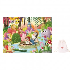 Tooky Toy Wooden Jigsaw Puzzle 72 Piece (Rainforest)
