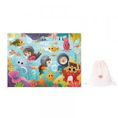 Tooky Toy Wooden Jigsaw Puzzle 24 Piece (Sea Animal)