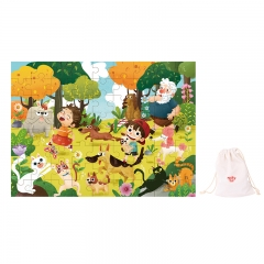 Tooky Toy Wooden Jigsaw Puzzle 72 Piece (Pet Park)