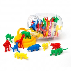 Wild Animal Counters Jar