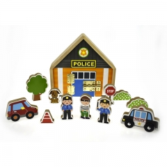 Metal Latch Playset (Police Station)