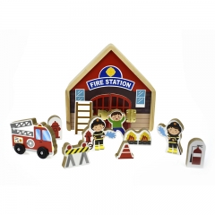 Metal Latch Playset (Fire Station)