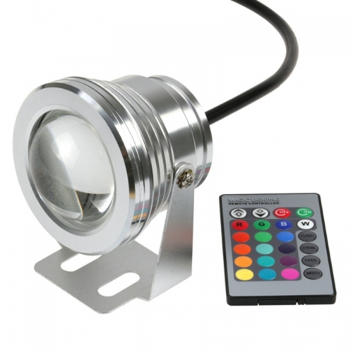 DC12V 10W RGB LED Pool Light with 24 Keys ControllerWaterproof  IP68  Led Underwater Light