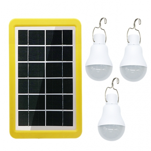 1 to 3 15W Rechargeable Portable Solar Light Bulb with Light-operated Control