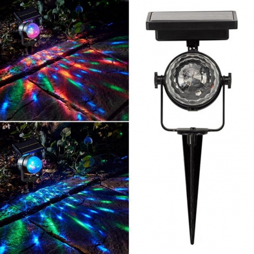 Christmas Lights Outdoor Solar Projector Light Rotatable Colorful Solar Lawn Light Durable Solar Garden Light