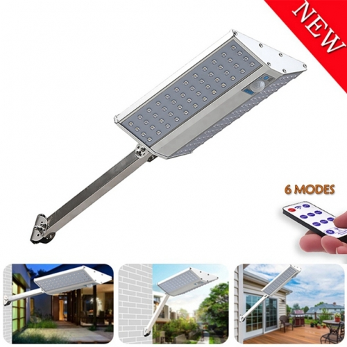 Waterproof 96 LEDs Solar Wall Lights 10000mah Solar Powered Street Lights 1600LM Super Bright Motion Sensor 6 Modes 5 Years Warranty