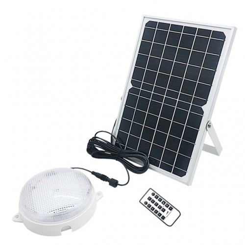 6W 10W LED Solar Ceiling Lamp Lights With Remote Controller Lights Sensor Solar Lights