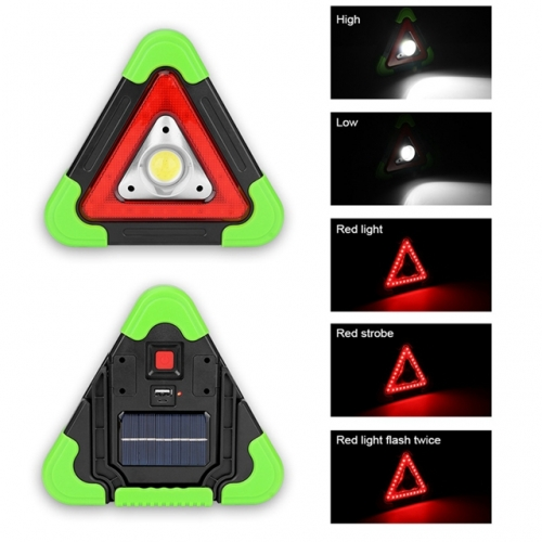 Solar COB LED Work Light SOS Searchlight Emergency Warning Traffic Light