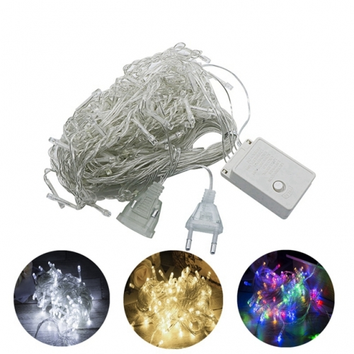 10M 20M LED Christmas String Lights with End Connector Colorful Waterproof LED Holiday Lights 8 Modes with Memory Function