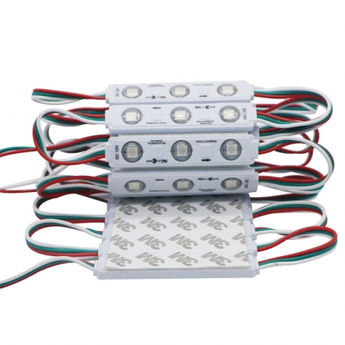 WS2811 SMD 5050 3 LED Modules Injection Lens Modules Magic Color 64 Modes Changing Waterproof