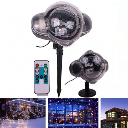 LED Christmas Snowflake Lights LED Stage Light Snow Laser Projector Lamps for Christmas New Year Party