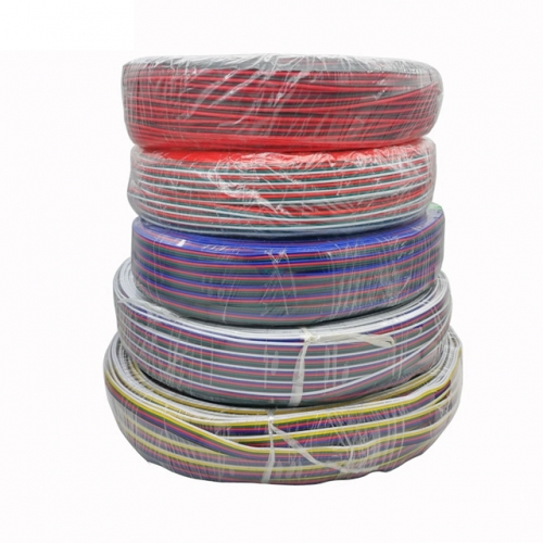 3Pin 4Pin 5Pin 6Pin RGB LED Connector Extension Cord Cable Wire AWG 2 Pin Electical Cable for 5050 2835 RGBW WS2811 Pixel LED Strip LED Driver