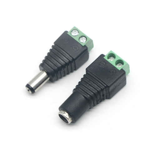 5.5*2.1mm DC12V Power Connector DC Male and Female Plug Jack Adapter for CCTV LED Strips LED Modules