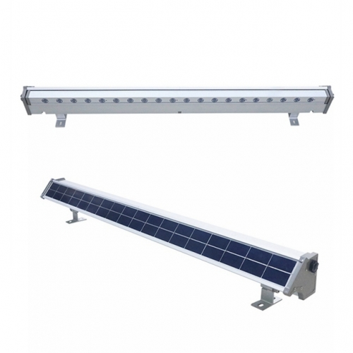 10W 20W All in One Solar Led Wall Wash Lights Solar Bar Lights IP65 Waterproof Solar Advertising Light