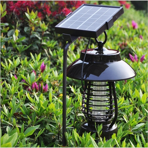 2020 Outdoor Solar Garden UV Mosquito Killer Lamp Villa Garden Lighting Bug Zapper Solar Light Insect Killer Mosquitos Trap LED Lantern Repellent Lamp