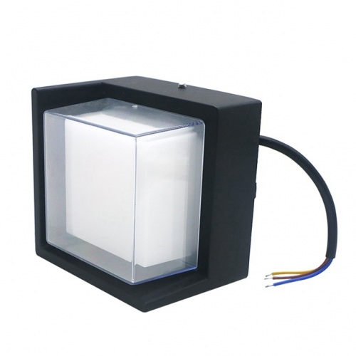 Modern Square 5W Outdoor LED Wall Lamp AC85-265V Courtyard LED Light