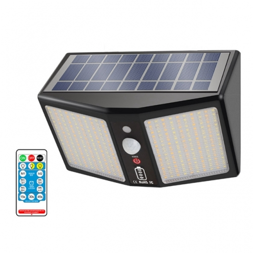 360 LEDs Dusk to Dawn Solar Wall Light Dual Color Outdoor Waterproof Solar Garden Light 2000LM 6 Modes Solar Street Induction Night Lights with Remote