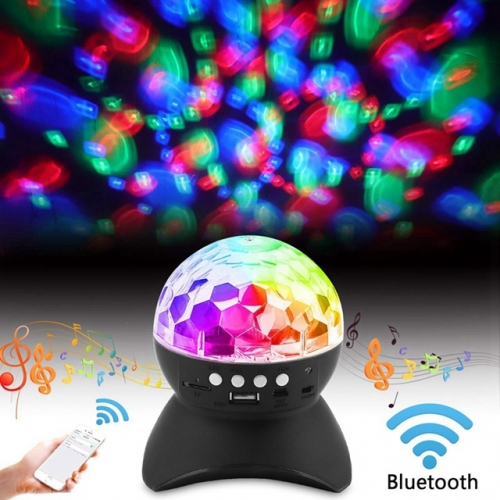Blue-tooth Music Speaker Magic Ball Lamp Holiday Led DJ Disco Light Stage Lights RGB Magic Crystal Ball Lamp Christmas Party