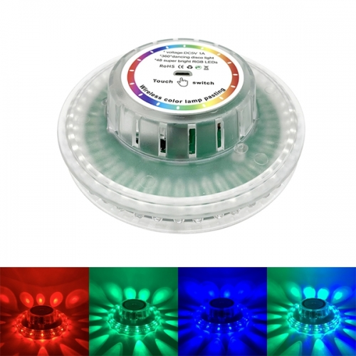 USB Rechargeable Touch Led Disco Stage Light Wireless Color Lamp Pasting Sound Activated Sunflower Effect Lights