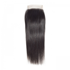 "Luxury Tresses 4x4 Straight Closure Human Hair Free/Middle Part Lace Closure 10""-20"" Natural Color Free Shipping"
