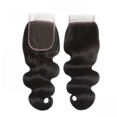 "Luxury Tresses 4x4 Body Wave Closure Human Hair Free/Middle Part Lace Closure 10""-20"" Natural Color Free Shipping"