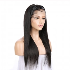 Straight Lace Front Human Hair Wigs Brazilian Straight Wigs Pre Plucked Remy Natural Color