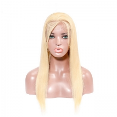 13x4 Straight Lace Front Remy Hair Wigs Transparent 613 Lace Front Wig Blonde Wig Pre Plucked With Baby Hair