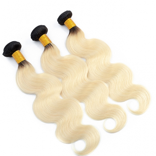 100% Remy Hair Weave Bundles Luxury Tresses Ombre Black Honey Blonde 1B/613 Body Wave Human Hair Extensions