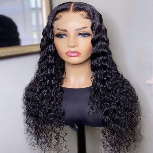 5x5 HD Lace Closure Wig Human Hair Wigs Water Wave Pre Plucked 150% Malaysian Remy Hair Wig 26 Inch Lace Wigs For Women
