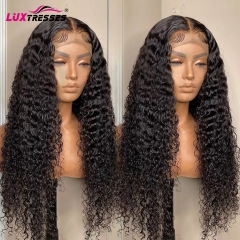 4x4 Lace Closure Wig Human Hair Wigs Curly Pre Plucked 150% Brazilian Remy Hair Wig 26 Inch Lace Wigs For Women