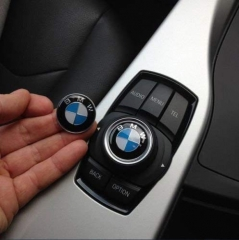 3Piece DIY BMW Steering Wheel Emblem Decal, BMW Multimedia Center Button iDrive Controller Decal, BMW Radio Button Decal