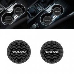 Auto sport 2.75 Inch Diameter Oval Tough Car Logo Vehicle Travel Auto Cup Holder Insert Coaster Can 2 Pcs Pack (Volvo)