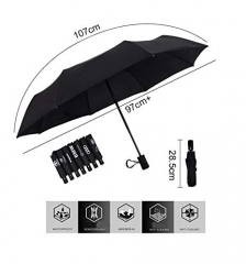 Auto Sport AUTO Open Large Folding Umbrella Windproof Sunshade with Car Logo for Volkswagen Accessory