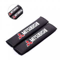 Mitsubishi Embroidered Seat Belt Shoulder Cushion Cover Pad