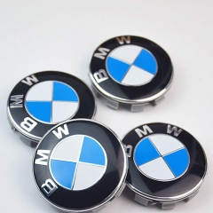 Set of 4 Wheel Center Caps Emblem for BMW,68mm Standard BMW Logo Rim Center Hub Cap for All Models with Stock BMW Wheels Blue & White Color