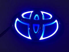 5D LED Car Tail Logo Light Badge Lamp Emblem Sticker Fit Toyota Accessory
