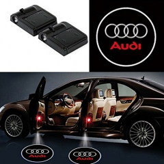 2 Pcs Wireless Car Door Led Welcome Laser Projector Audi Light Ghost Shadow Light Lamp Logos