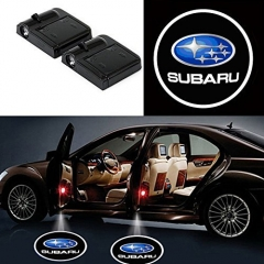 2 Pcs Wireless Car Door Led Welcome Laser Projector Subaru Light Ghost Shadow Light Lamp Logos