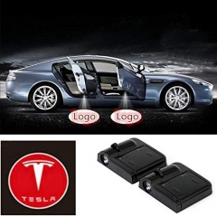 2 Pcs Wireless Car Door Led Welcome Laser Projector Tesla Light Ghost Shadow Light Lamp Logos