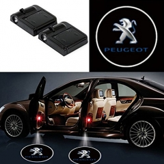 2 Pcs Wireless Car Door Led Welcome Laser Projector Peugeot Light Ghost Shadow Light Lamp Logos