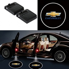 2 Pcs Wireless Car Door Led Welcome Laser Projector Chevrolet Light Ghost Shadow Light Lamp Logos
