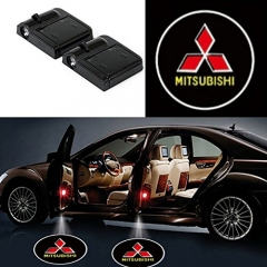 2 Pcs Wireless Car Door Led Welcome Laser Projector Mitsubishi Light Ghost Shadow Light Lamp Logos