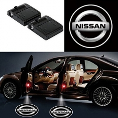 2 Pcs Wireless Car Door Led Welcome Laser Projector Nissan Light Ghost Shadow Light Lamp Logos