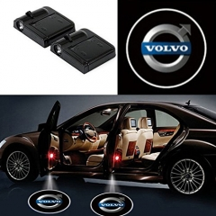 2 Pcs Wireless Car Door Led Welcome Laser Projector Volvo Light Ghost Shadow Light Lamp Logos